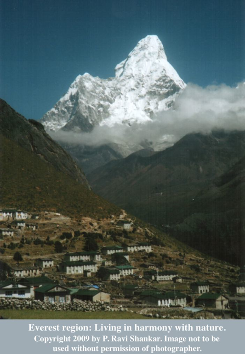 Everest region: Living in harmony with nature. Photograph