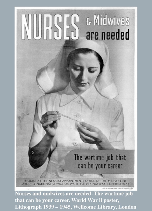 Remember the Nurses - Lithograph 1939 - 1945, Wellcome Library, London
