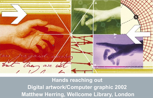 an illustration of hands reaching out