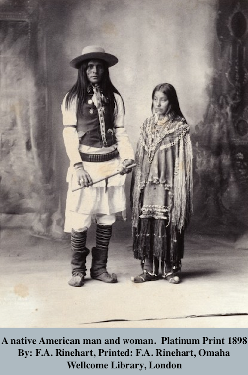 photograph of native american man and woman 1898